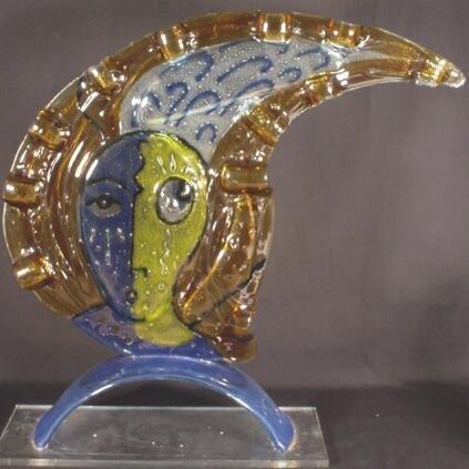 21: Silvio Vigliaturo Italian (born1949- ) Glass Sculpt