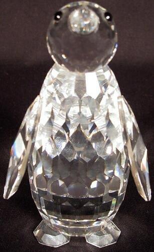 504: Swarovski Crystal Penguin Figure. Signed Swarovski