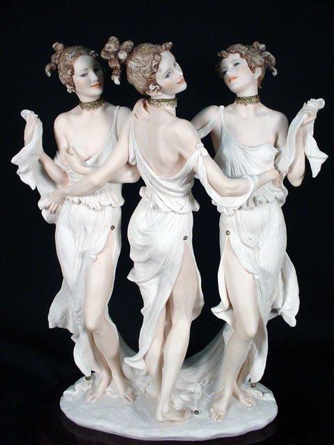 "510: 1998 Giuseppe Armani Figurine ""Three Graces"" Signe"
