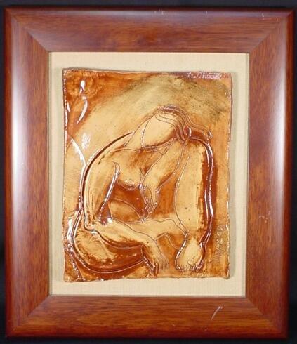 522: Yuri Gevorgian Yuroz Armenian (born1956- ) Ceramic