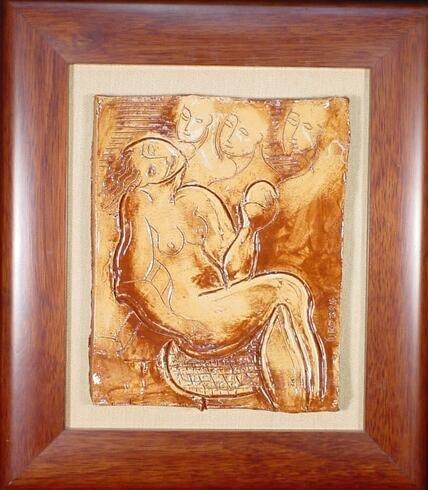 523: Yuri Gevorgian Yuroz Armenian (born1956- ) Ceramic