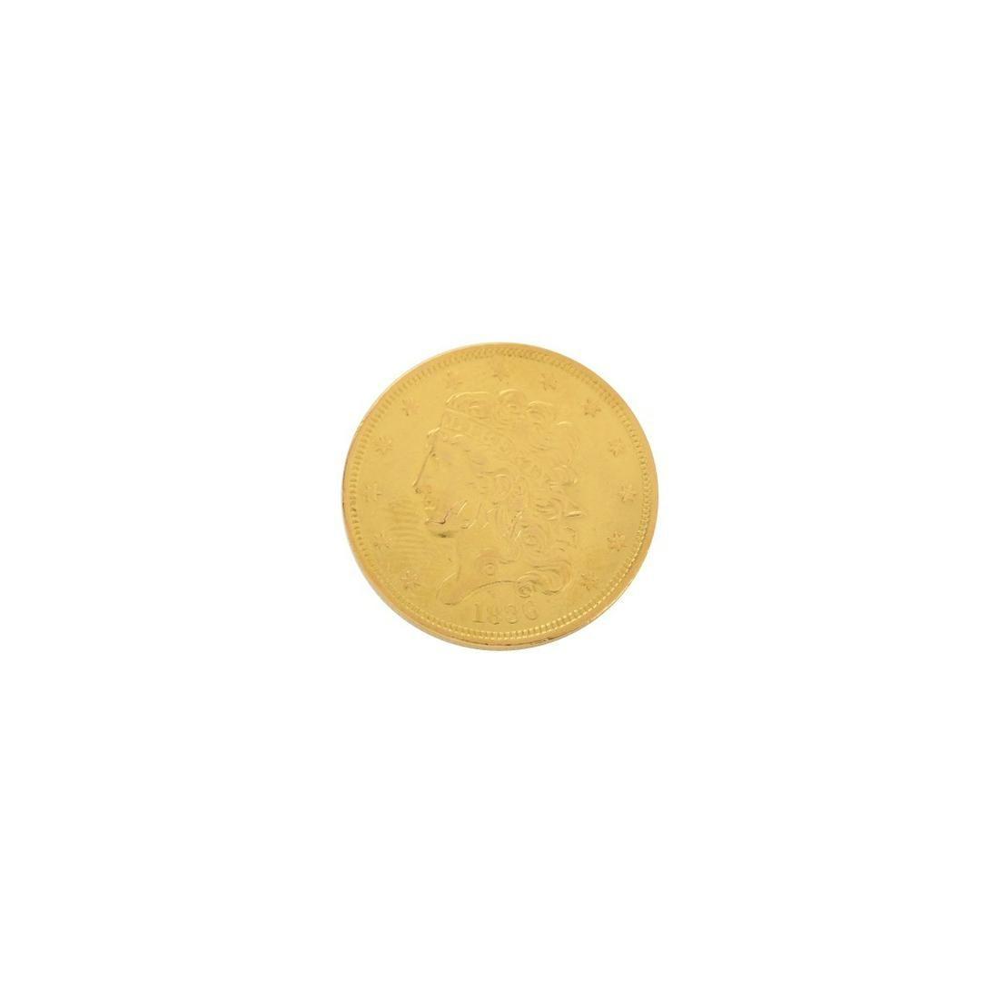 1836 US Gold Classic Head $5