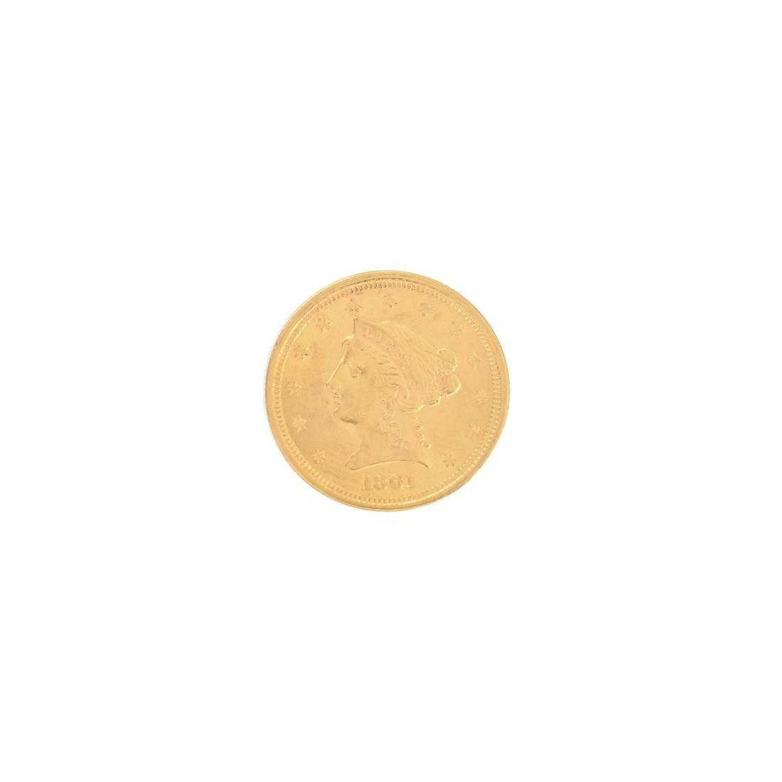 1861 US Gold Liberty Head/Civil War $2.50