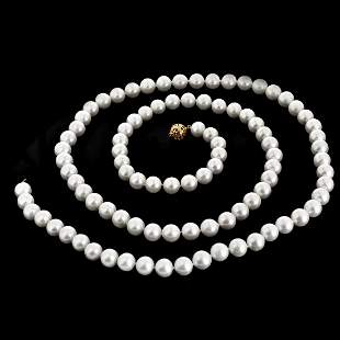 """48"""" L 12mm Pearl Necklace"""