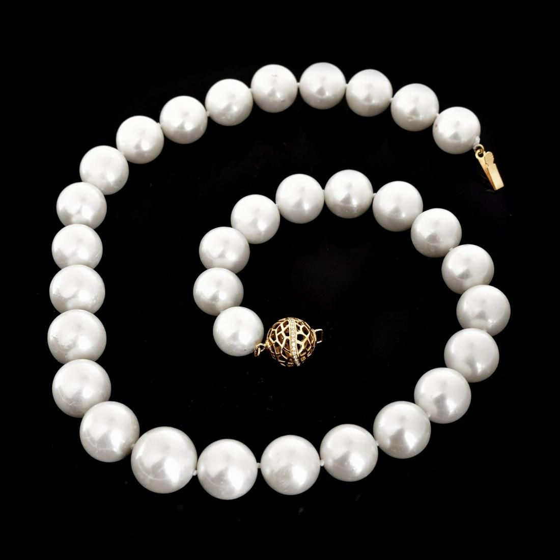 """17"""" L 12.0-14.0mm Pearl Necklace"""