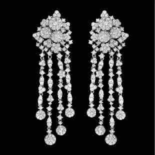 Diamond and 18K Earrings