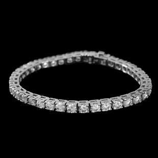 Vintage Diamond and 14K Line Bracelet