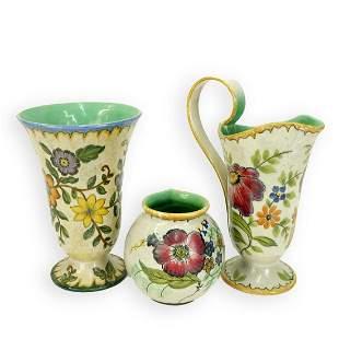 Three 3 Gouda Art Pottery Tableware