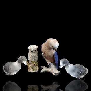 Four 4 Vintage Assorted Figurines