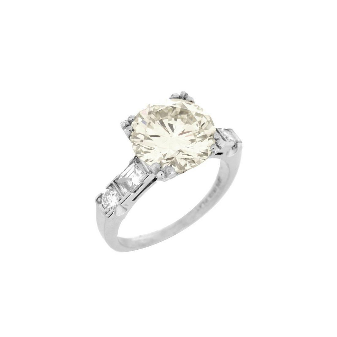 4.38 Carat Diamond and Platinum Ring