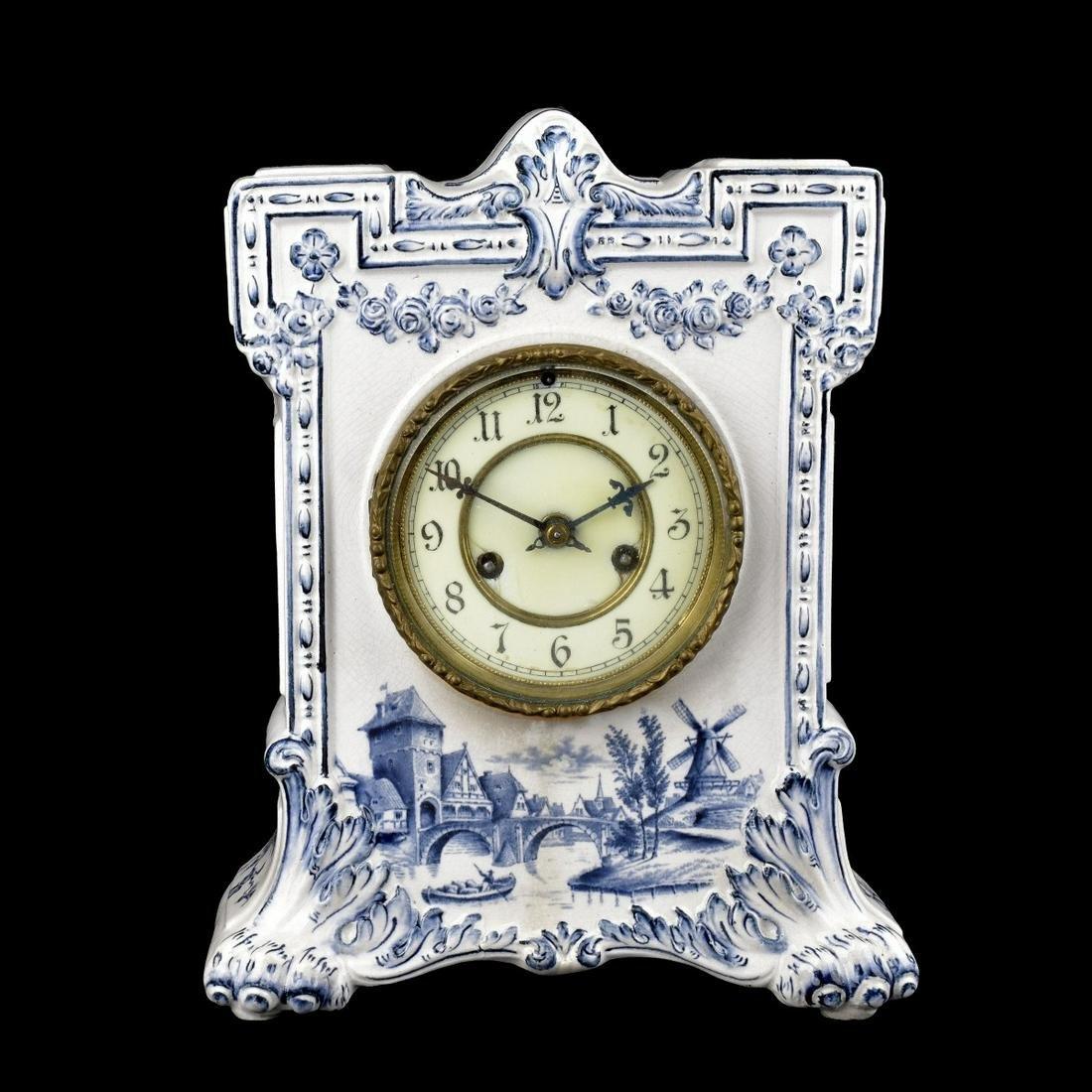Waterbury Clock Co. Porcelain Clock
