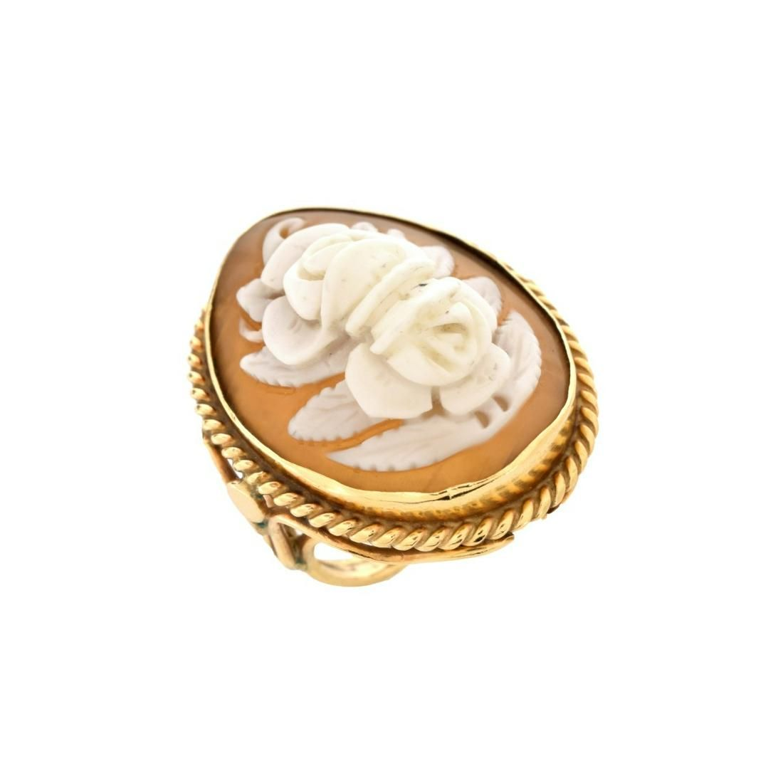Shell Cameo and 14K Ring