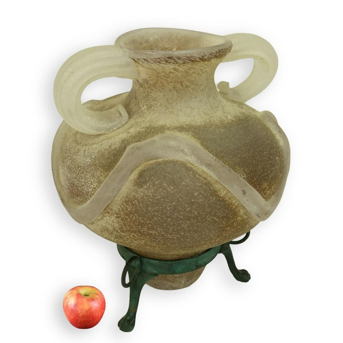 Luigi Mellara Scavo Glass Vase