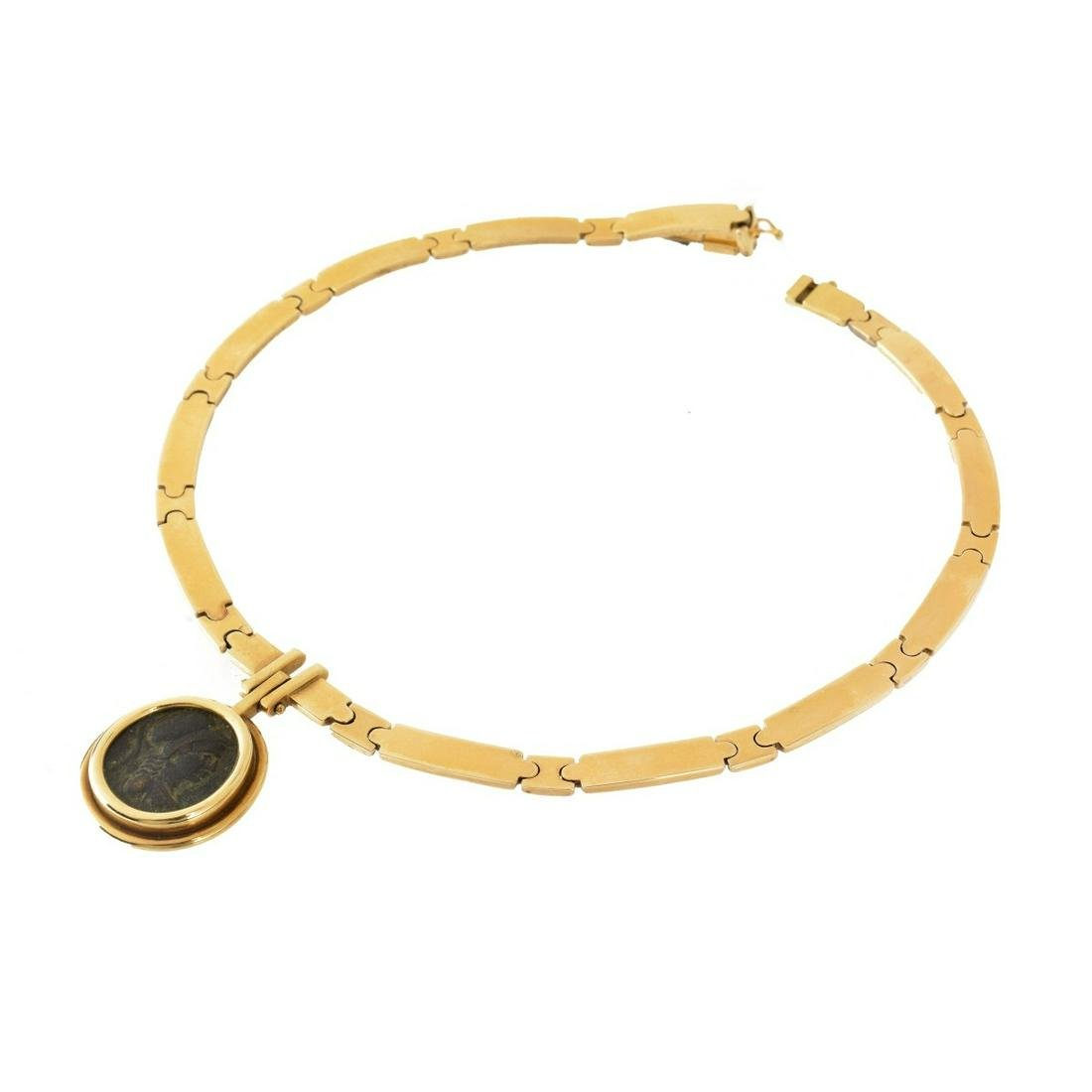 18K and Roman Coin Necklace