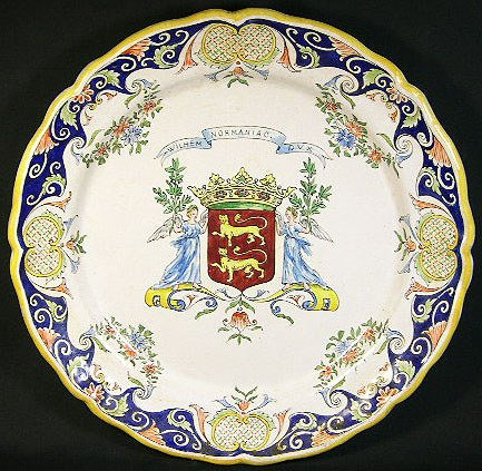 4: 18/19th Century French Faience Charger. Armorial Cre