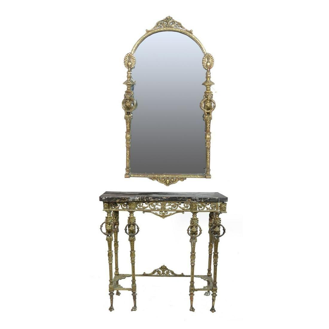 Attrib: Oscar Bach Console Table and Mirror