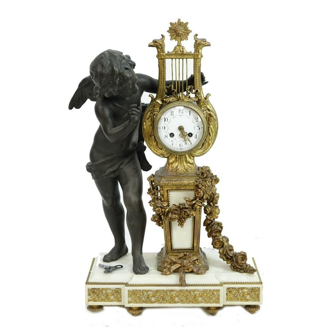 Antique Louis XVI Style Mantle Clock