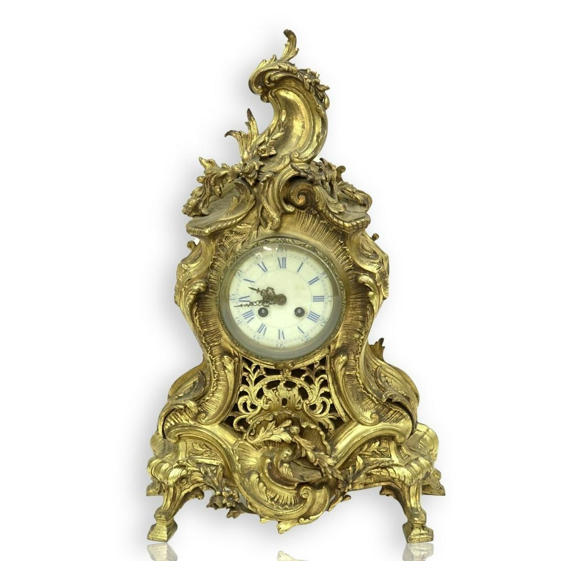 Gilt Bronze Mantle Clock