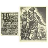 4 Isaac Friedlander (1890-1968) Woodcuts