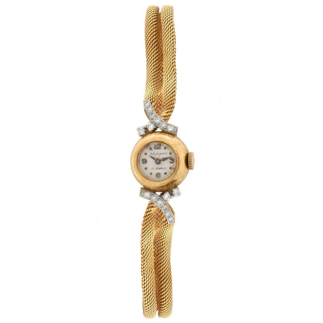 Lady's Jules Jurgensen 14K Watch