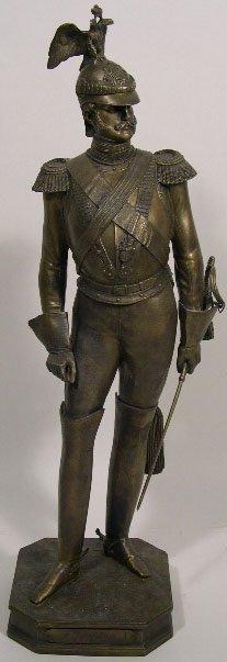 "74: Russian Bronze Sculpture of ""Czar Nicholas I"" Signe"