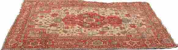 395 Antique Hand Woven Persian Heriz Oriental Rug Goo