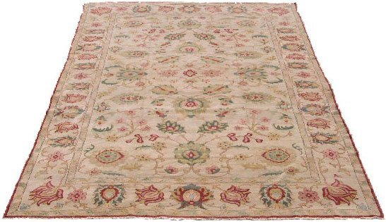 397: Colorful Hand Woven Decorative Oriental Rug. Stain