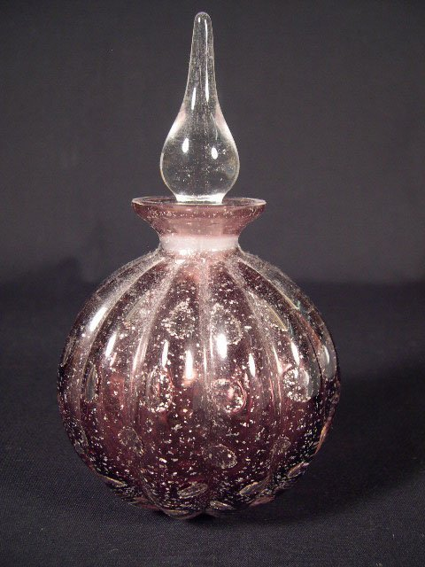 506: Contemporary Art Glass Perfume Bottle with Stopper