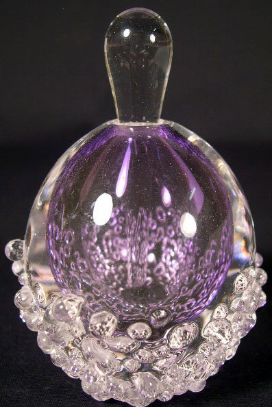 507: 1991 L. Store Art Glass Perfume Bottle with Stoppe