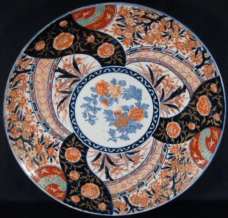 513: Profusely Signed 19C Japanese Imari Charger. Pinfi