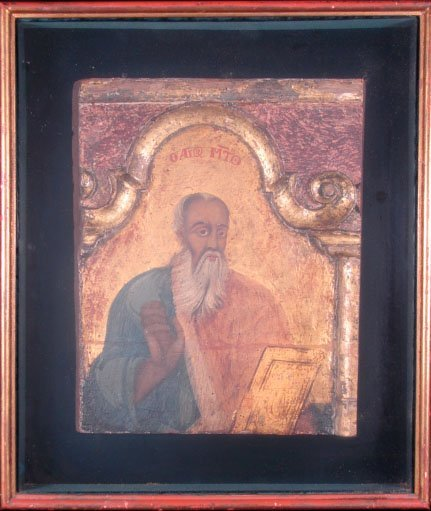 519: 18C Eastern Orthodox Hand Painted Wooden Icon of S