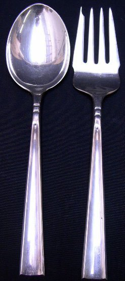 520: Avanti Mexican Sterling Silver Salad Serving Set I