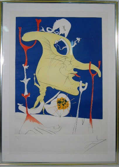567: Salvador Dali Spanish (1904-1989) Color Drypoint w