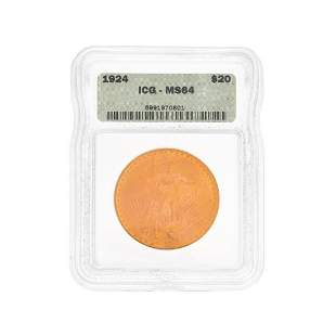 1924 Saint-Gaudens Gold $20.00