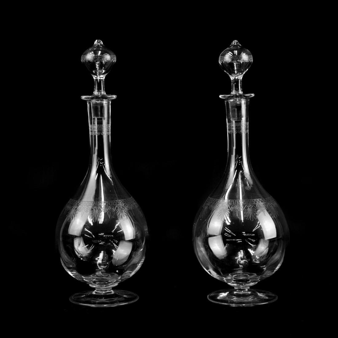 Pair of Antique Baccarat Decanters