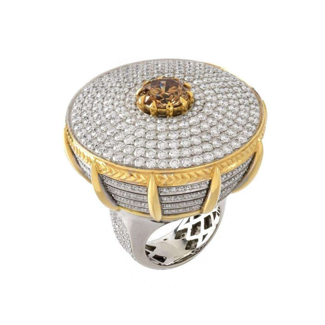 GIA Fancy Color Diamond Cocktail Ring