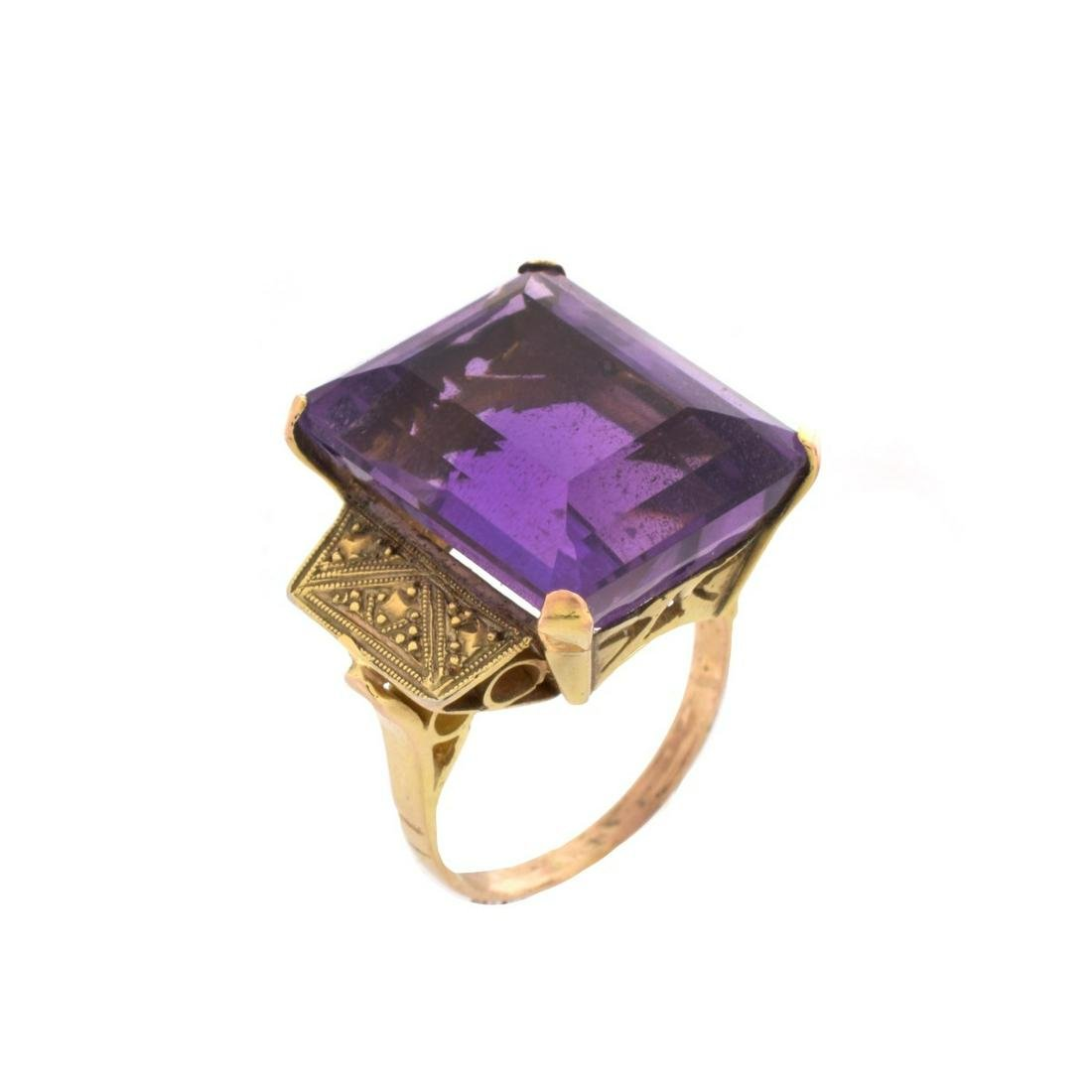 Vintage Amethyst and 14K Ring