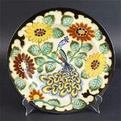 Large Antique Gouda Pottery Charger