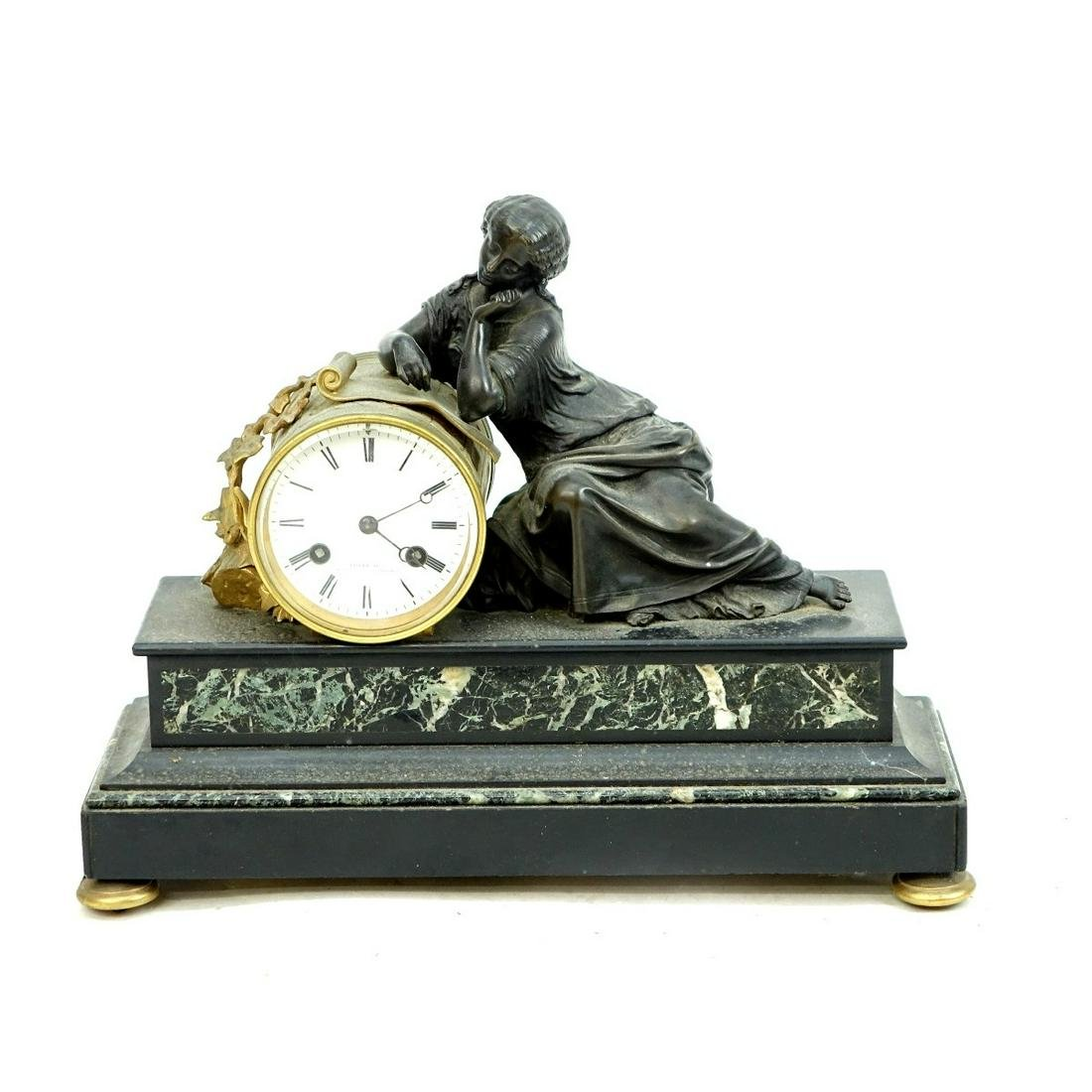 19th C. French Loyer Mantle Clock