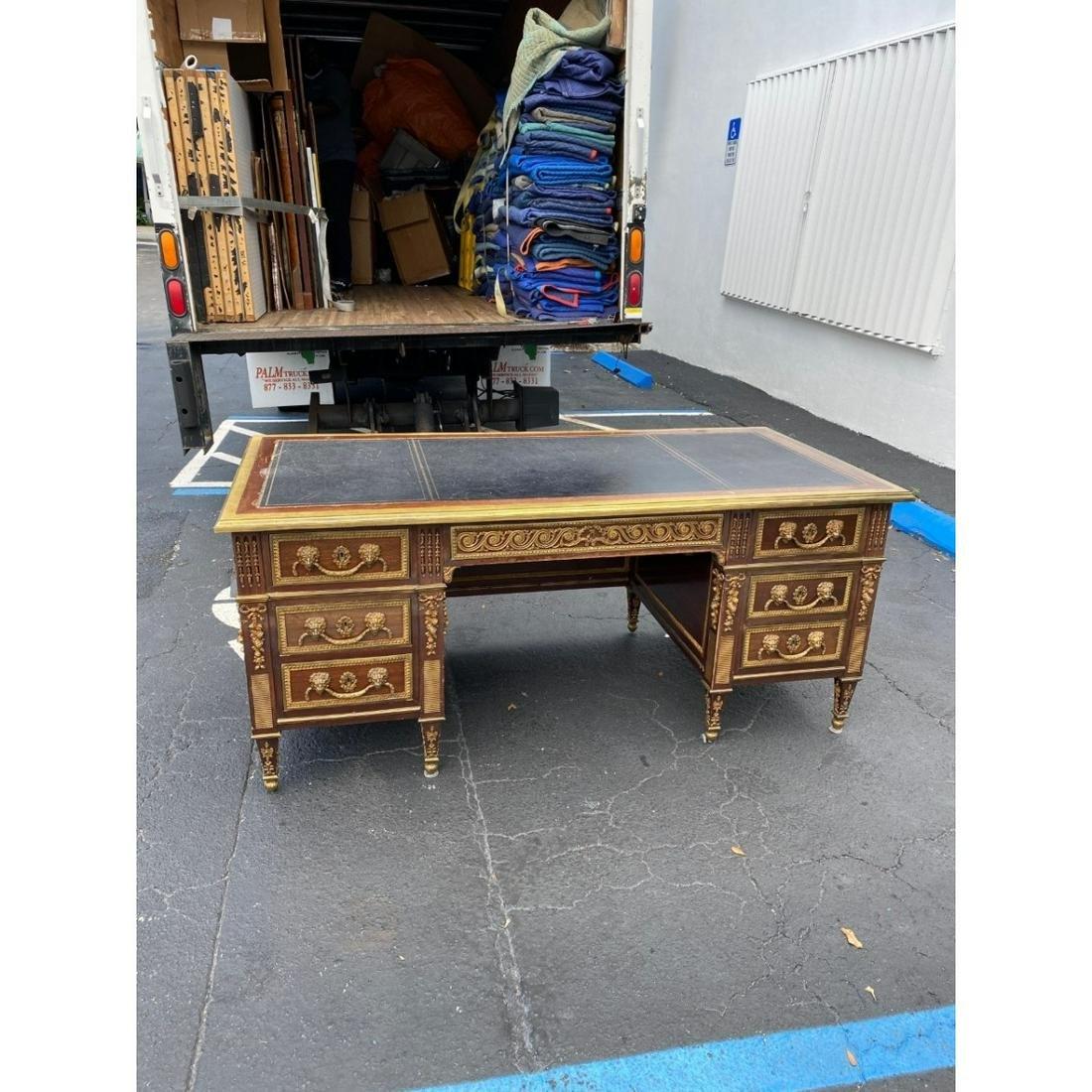 Louis XVI Style Bronze Mounted Desk