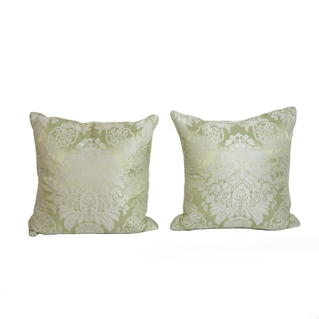 Pair of Scalamandre Silk Pillows