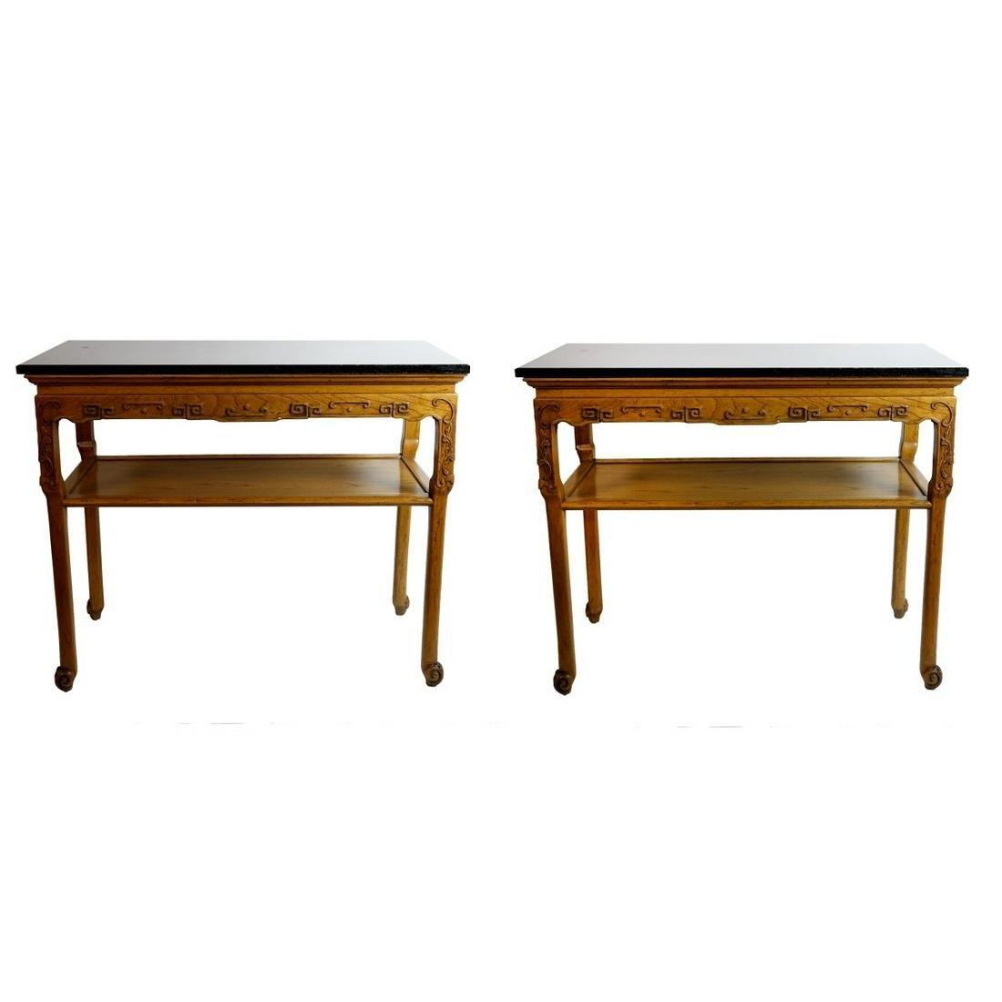 "Pair of Baker Furniture ""Far East"" Tables"