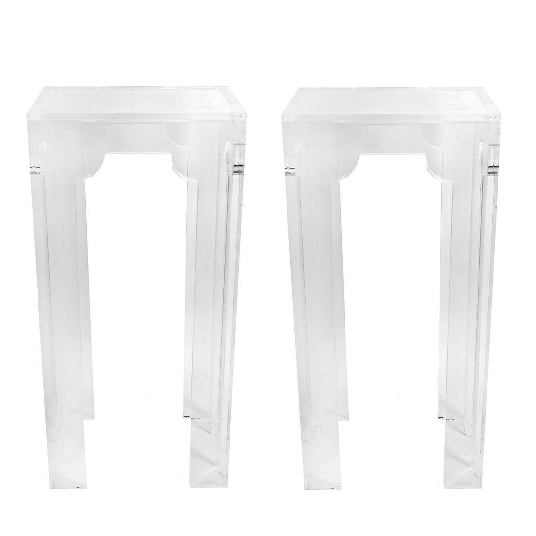 Pair of Lucite Pedestals
