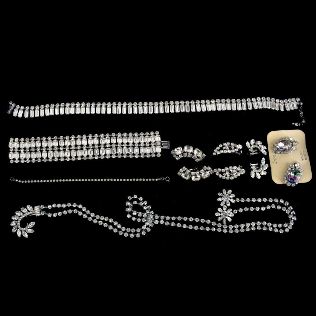 Collection of Rhinestone Jewelry
