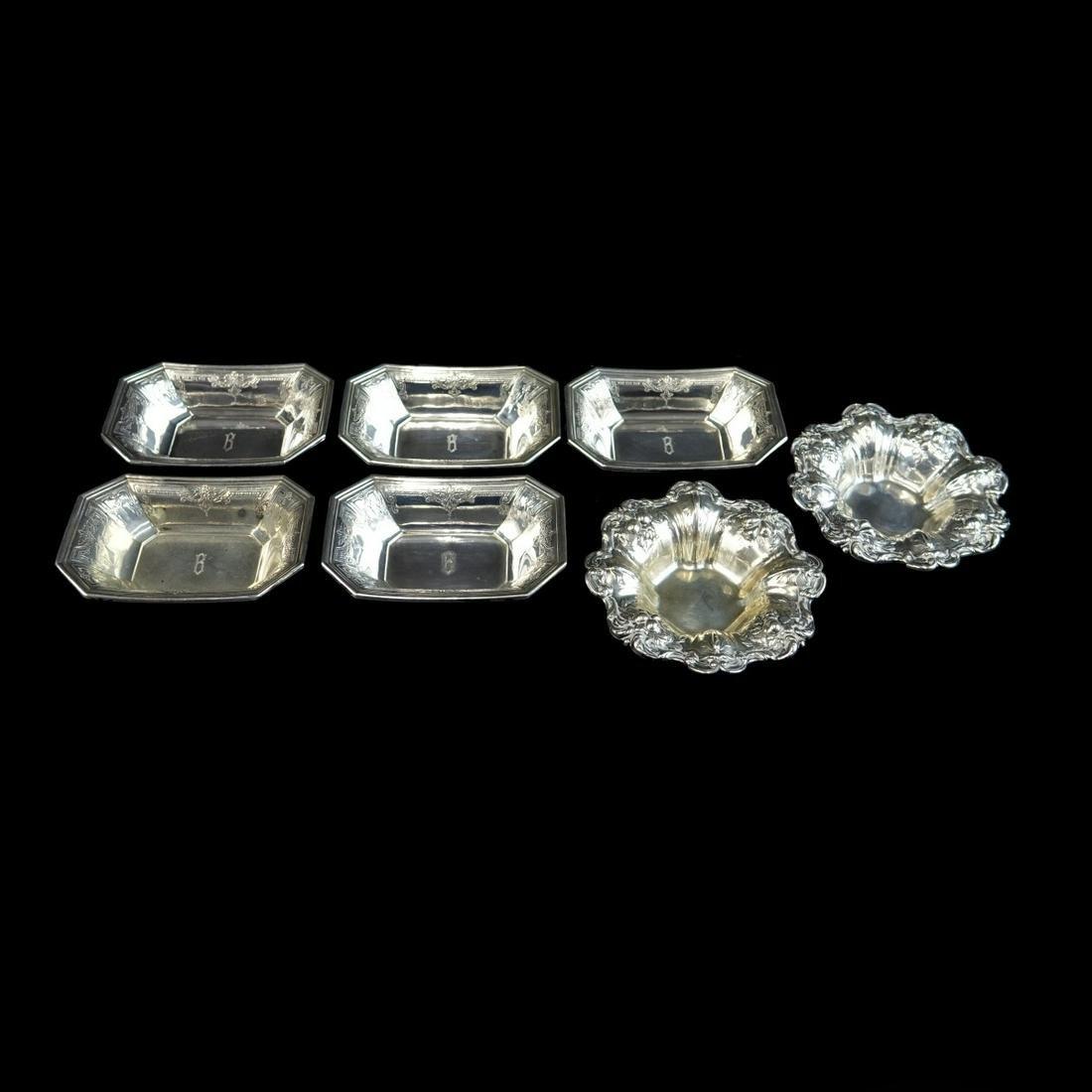 Seven (7) Vintage Sterling Silver Dishes