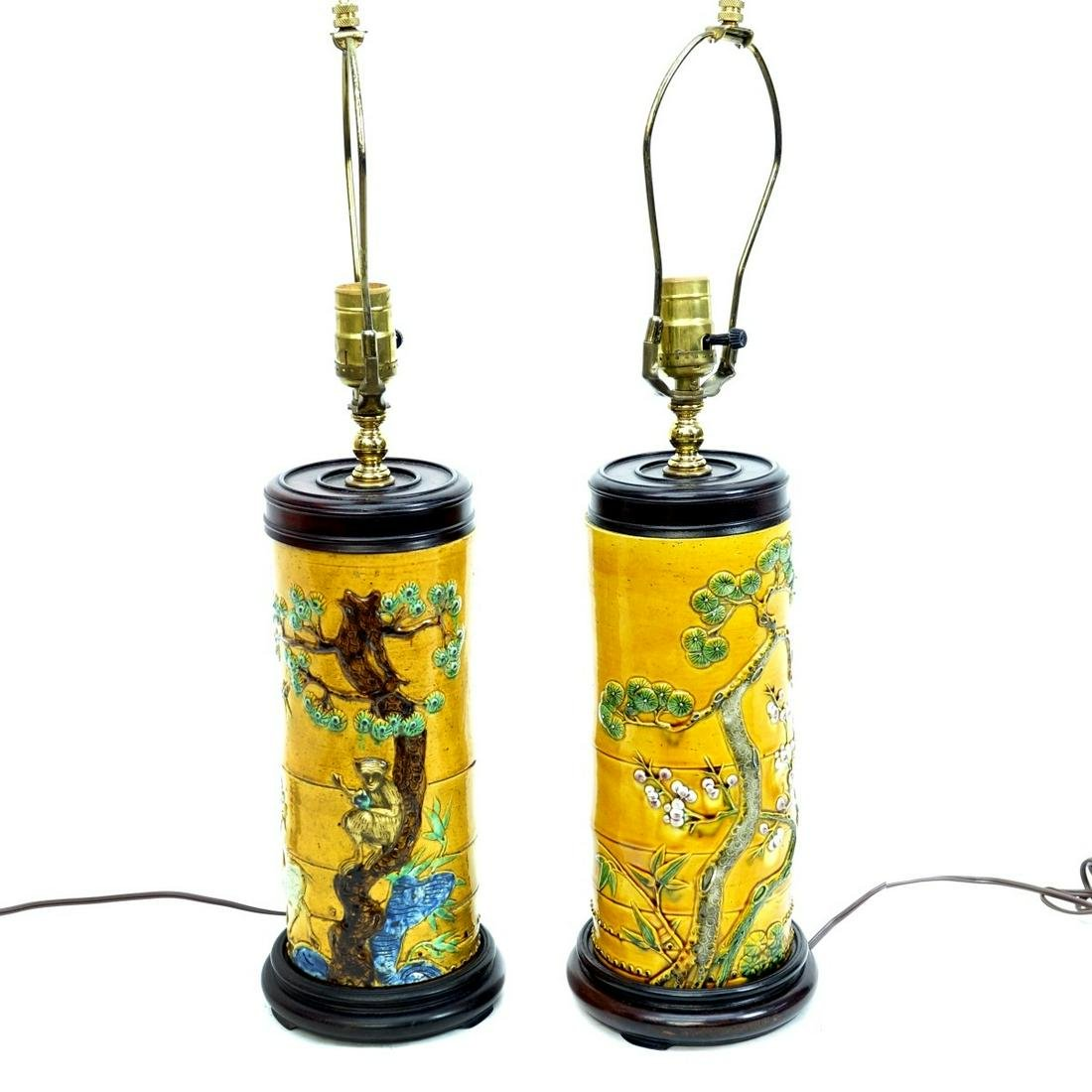 Pair of Modern Chinese Porcelain Lamps