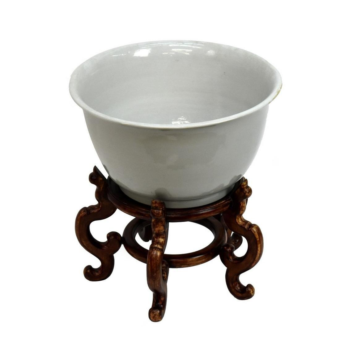 20th C. Chinese Blanc de Chine Flower Pot