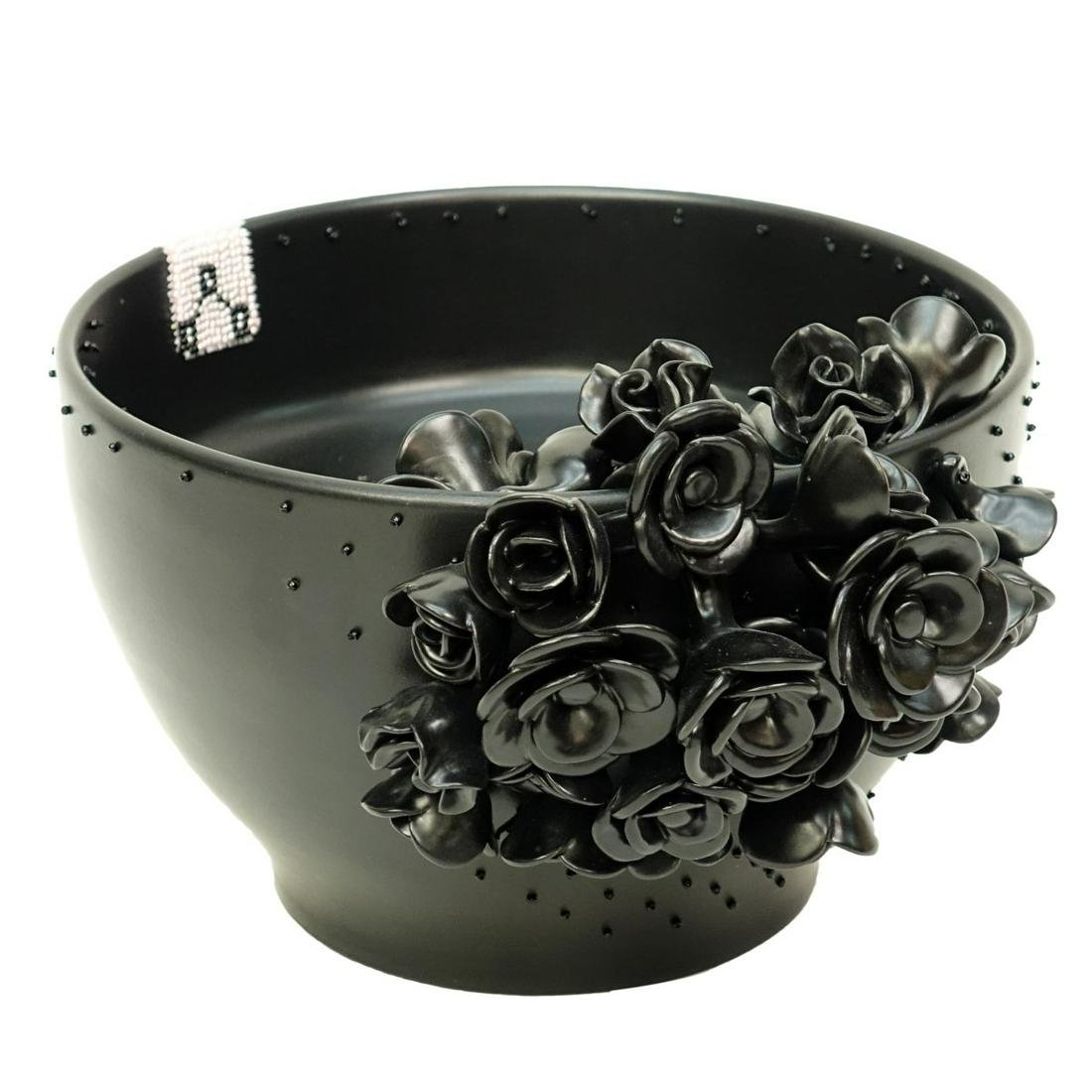 Artnenica Black Ceramic Bowl