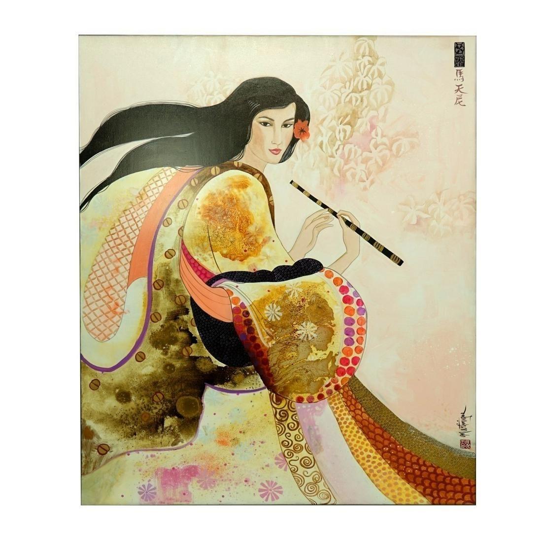 Lg Contemporary O/C Asian Woman