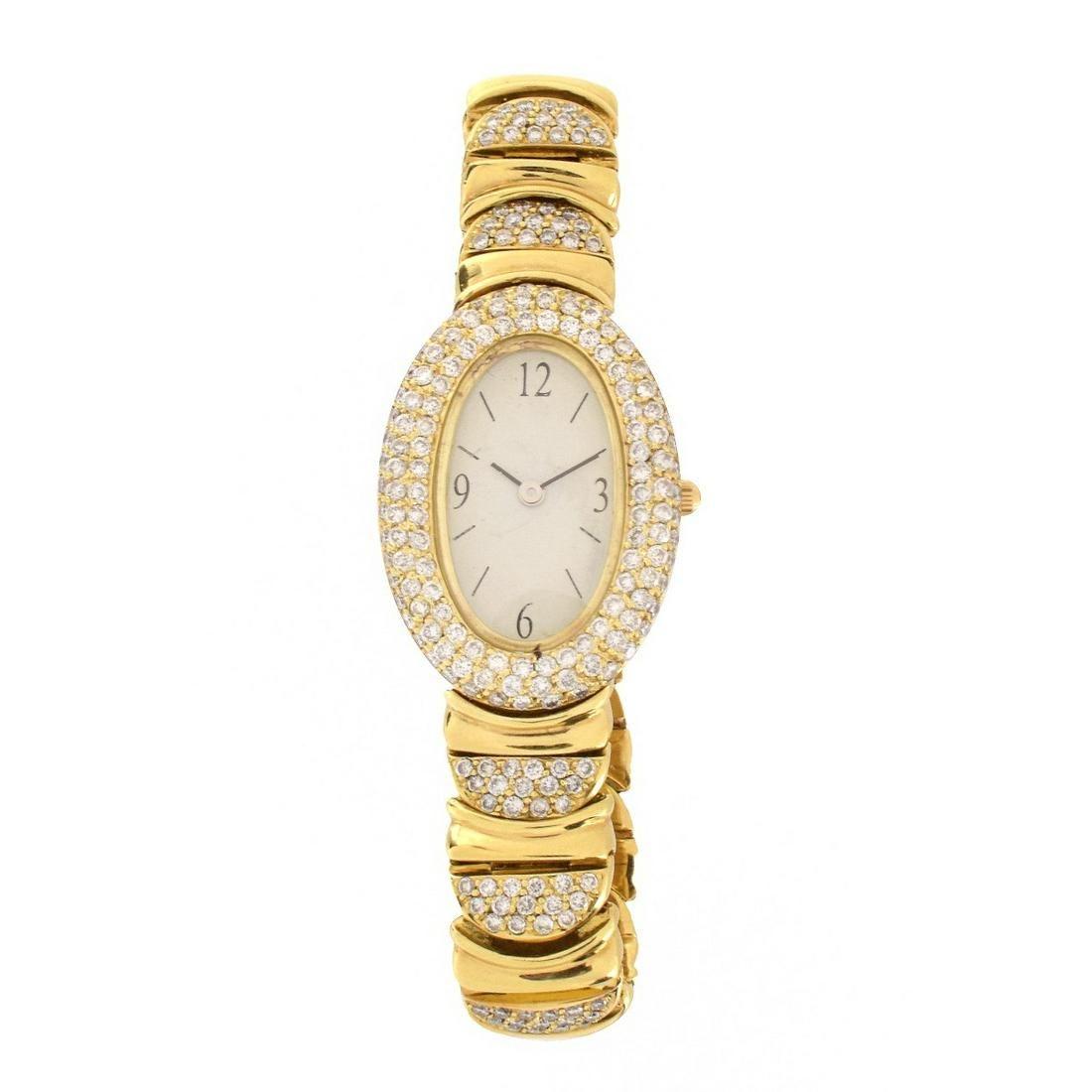 Diamond and 18K Watch